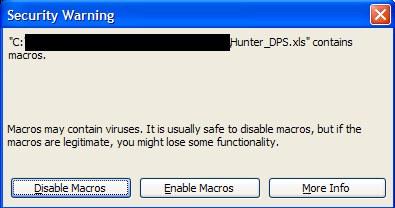 Security warning!